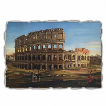 """Affresco grande Vanvitelli """"Veduta del Colosseo e l'Arco di Costantino"""""""