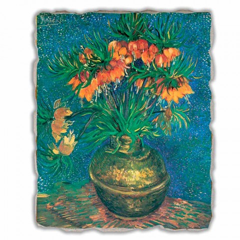"""Affresco grande Vincent Van Gogh """"Natura Morta con Fritillarie"""""""