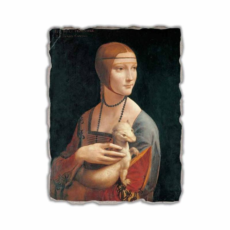 "Affresco Leonardo da Vinci ""La Dama con l'Ermellino"""