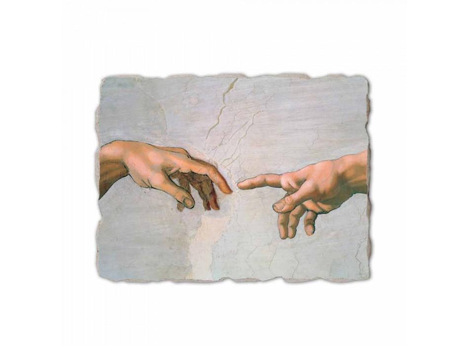 "Affresco made in Italy Michelangelo ""Creazione di Adamo"" part."