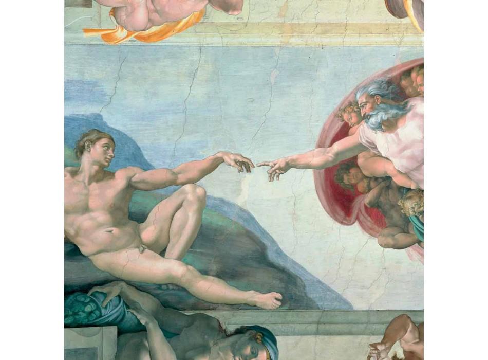 """Affresco Michelangelo """"Creazione di Adamo"""", fatto a mano"""
