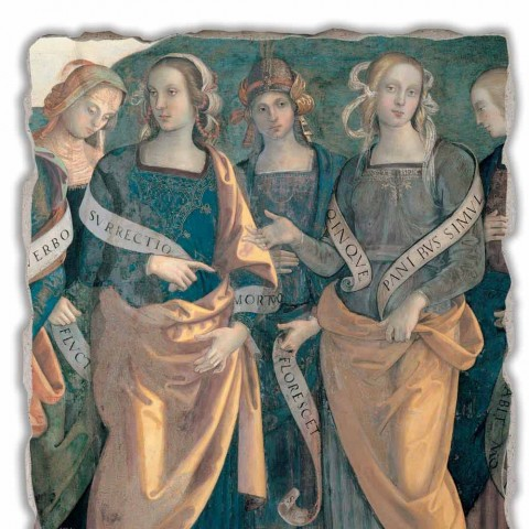 "Affresco Perugino ""Eterno tra Angeli, Profeti e Sibille"" part."