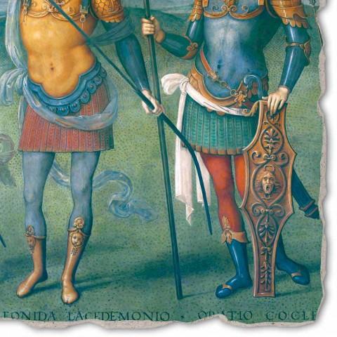 """Affresco Perugino """"La Fortezza, la Temperanza e sei Eroi dell'Antichità"""""""