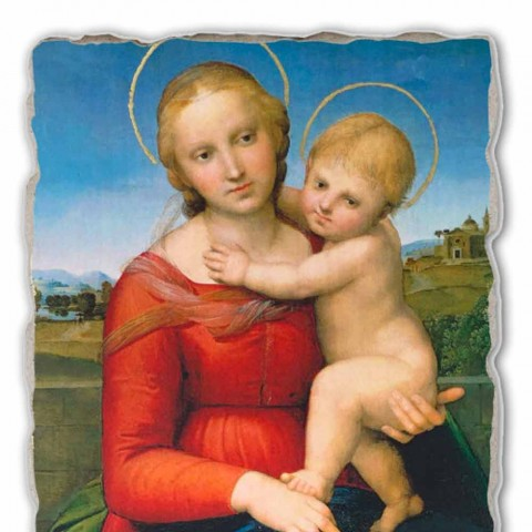 """Affresco Raffaello Sanzio """"Piccola Madonna Cowper"""" 1505"""