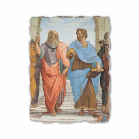 """Affresco Raffaello Sanzio """"Scuola di Atene"""" part. Platone e Artistotele"""