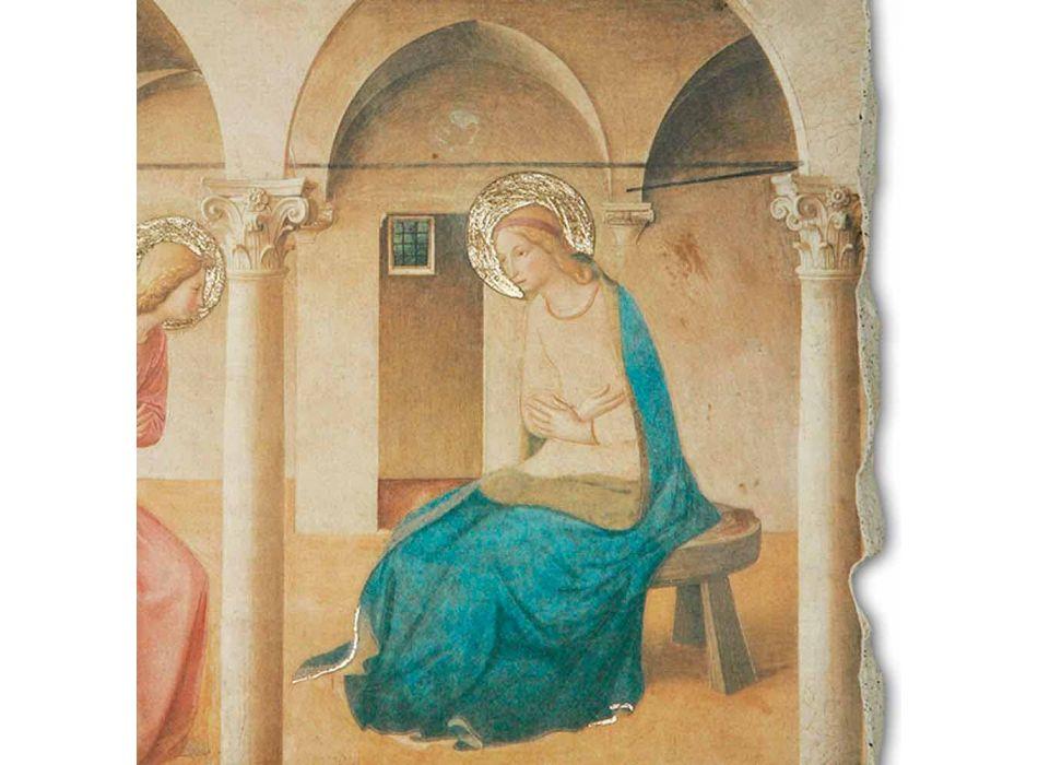 """Affresco riproduzione Beato Angelico """"Annunciazione"""" fatto a mano"""