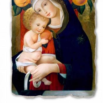"""Affresco riproduzione Carlo Crivelli """"Madonna con Bambino"""" XV secolo"""
