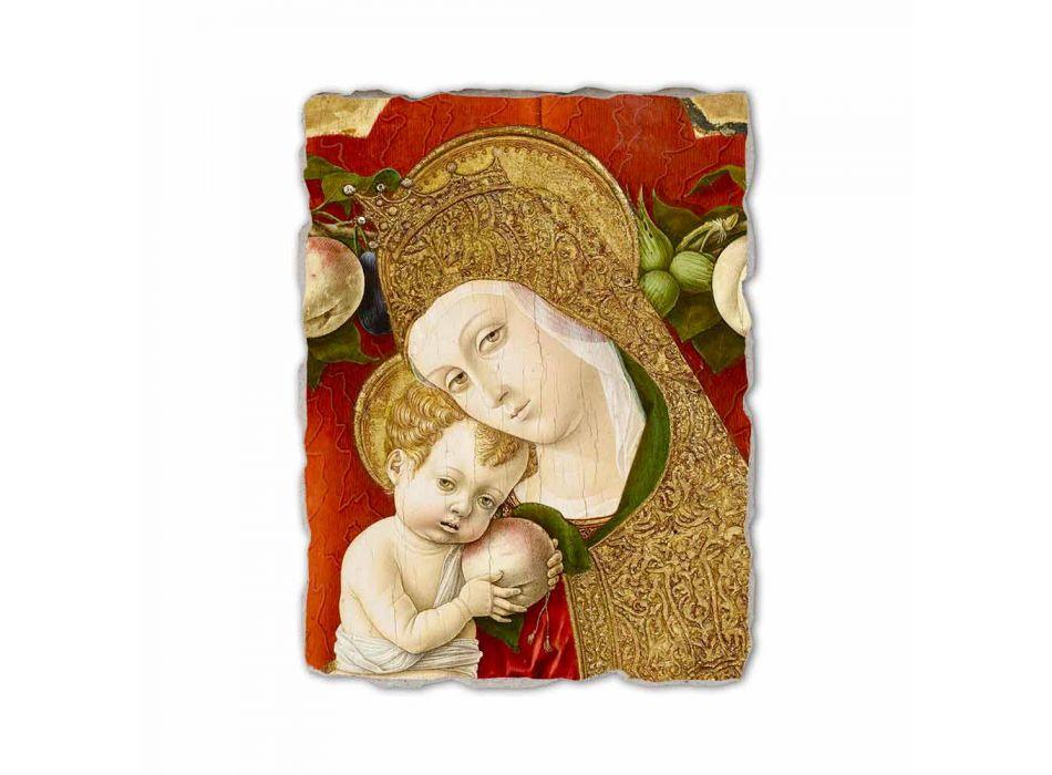 """Affresco riproduzione Carlo Crivelli """"Madonna Lochis"""" 1475"""