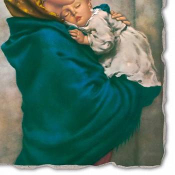 """Affresco riproduzione fatto a mano Ferruzzi """"Madonna del Riposo"""""""