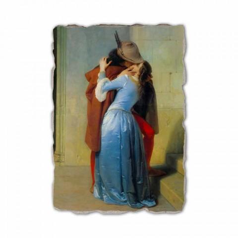 Affresco riproduzione fatto a mano in Italia Hayez Il Bacio