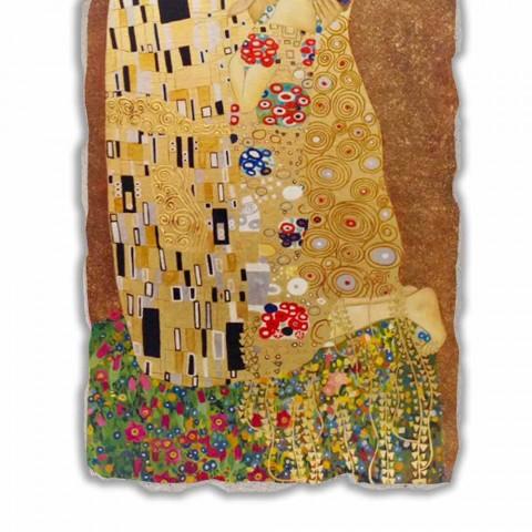 """Affresco riproduzione fatto in Italia Gustav Klimt """"Il Bacio"""""""