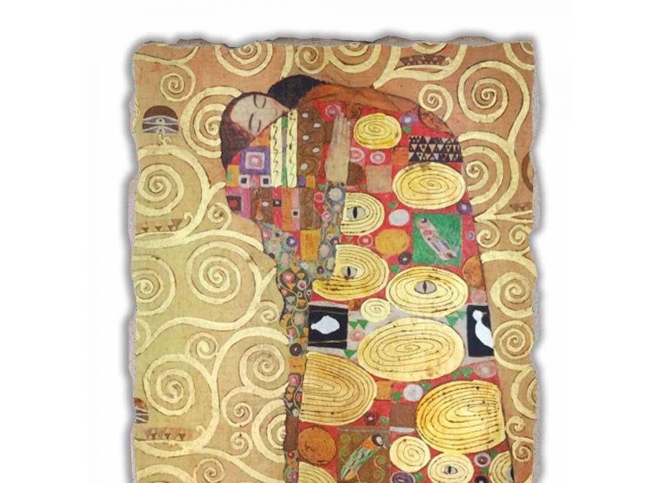 """Affresco riproduzione fatto in Italia Gustav Klimt """"L'Abbraccio"""""""