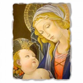 """Affresco riproduzione grande Botticelli """"Madonna del Libro"""""""