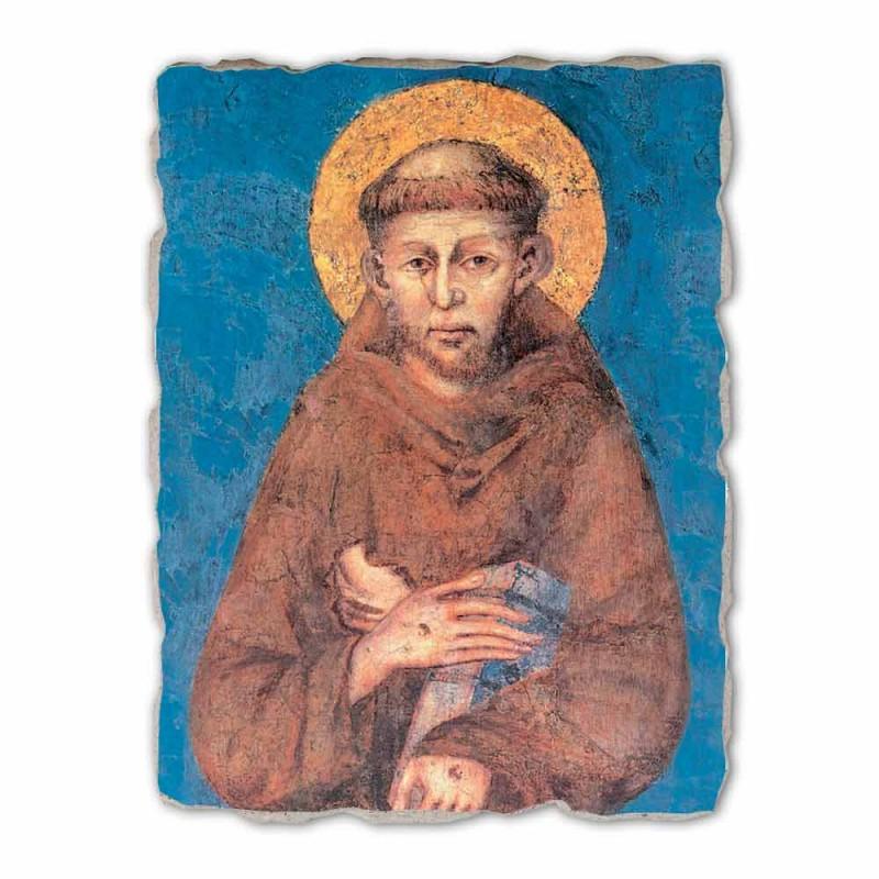 "Affresco riproduzione grande Cimabue ""San Francesco"" XIII sec"