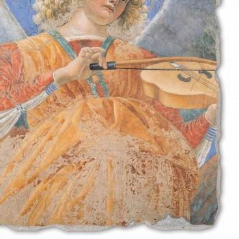 """Affresco riproduzione grande Melozzo da Forlì """"Angelo Musicante"""""""