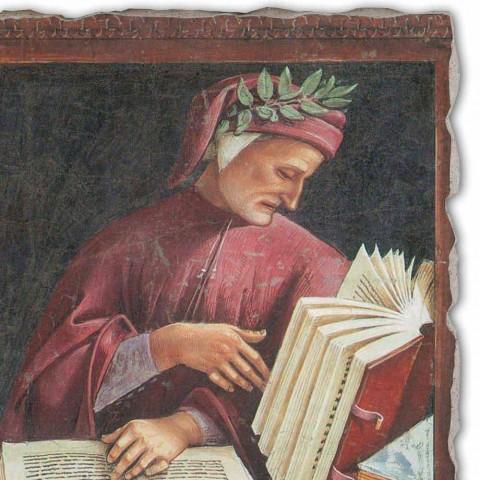 """Affresco riproduzione Luca Signorelli """"Dante Alighieri """" 1499-1502"""