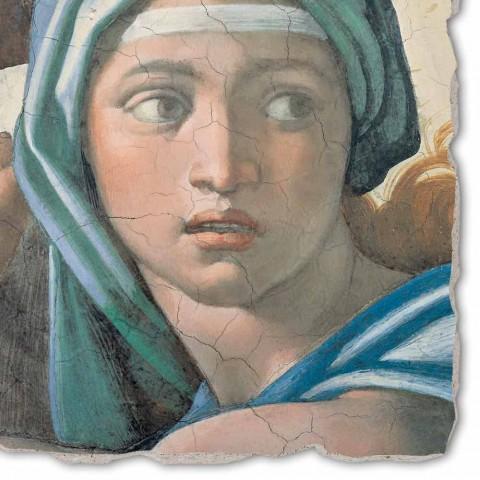 """Affresco riproduzione Michelangelo """"Sibilla Delfica"""""""