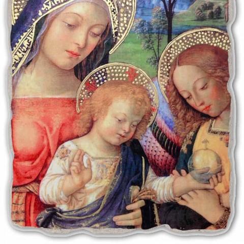 """Affresco riproduzione Pinturicchio """"Madonna della Pace""""part."""