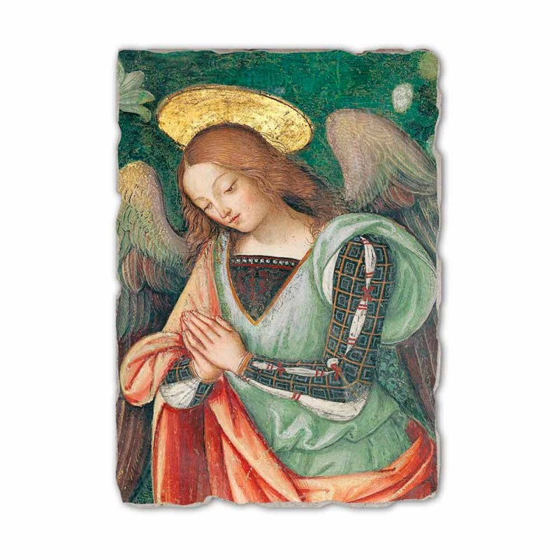 "Affresco riproduzione Pinturicchio ""Natività"" part. Angelo"