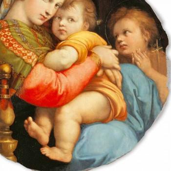 """Affresco riproduzione Raffaello Sanzio """"Madonna della Seggiola"""""""