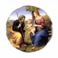 """Affresco riproduzione Raffaello Sanzio """"Sacra Famiglia con Palma"""""""