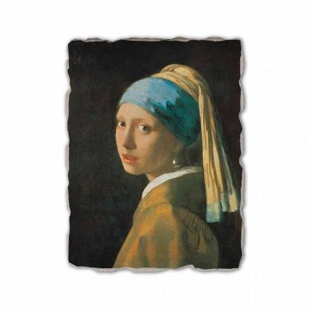 """Affresco riproduzione Vermeer """"Fanciulla con Turbante"""" 1665"""