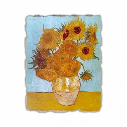 "Affresco riproduzione Vincent Van Gogh ""Vaso di Girasoli"""
