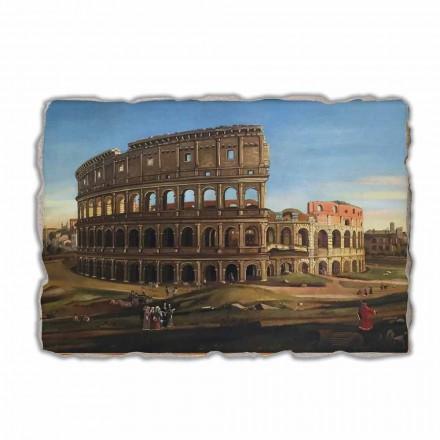 """Affresco Vanvitelli """"Veduta del Colosseo e l'Arco di Costantino"""""""