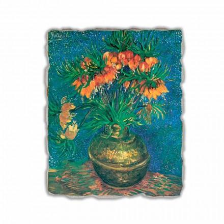 """Affresco Vincent Van Gogh """"Natura Morta con Fritillarie"""" 1887"""