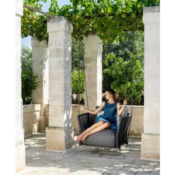 Altalena da Giardino di Design Moderno in Tessuto e Corda – Cliff by Talenti