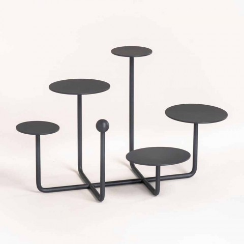 Alzatina per Dolci di Design in Acciaio Verniciato Made in Italy - Pennellope