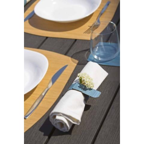 Anello Portatovagliolo da Tavolo in Legno e Tessuto Made in Italy - Abramo
