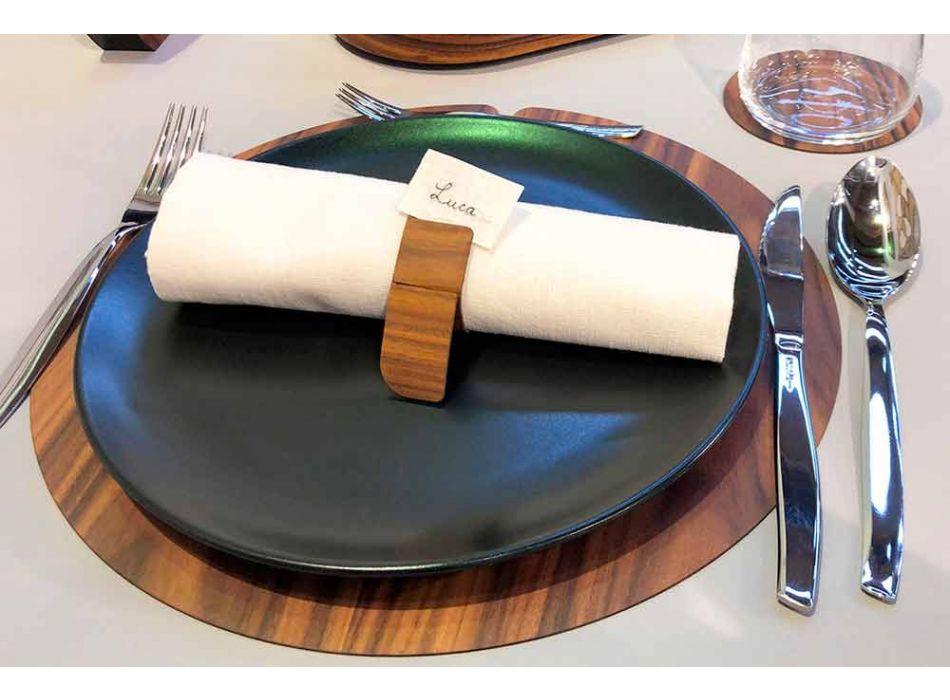 Anello Portatovagliolo di Design Moderno in Legno Made in Italy - Stan