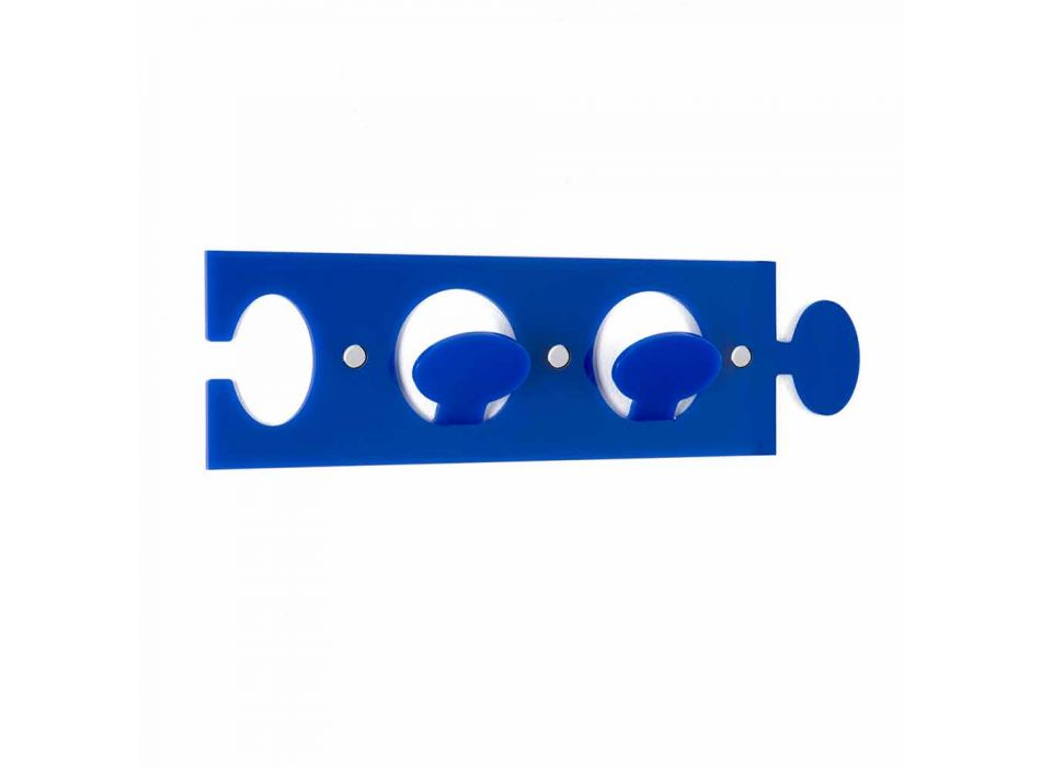 Appendiabiti da Muro Colorato in Plexiglass Design Doppio 3 Pezzi - Fratack