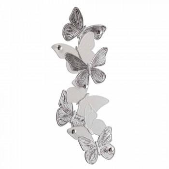 Appendiabiti da muro con farfalle di design 5pomelli made Italy Brice