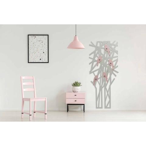 Appendiabiti da Muro in Legno Colorato dal Design Moderno - Alberuccell
