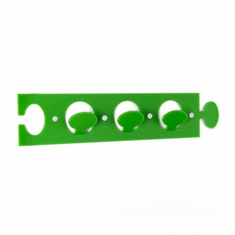 Appendiabiti da Parete Design in Plexiglass Colorato Triplo 2 Pezzi - Fratack