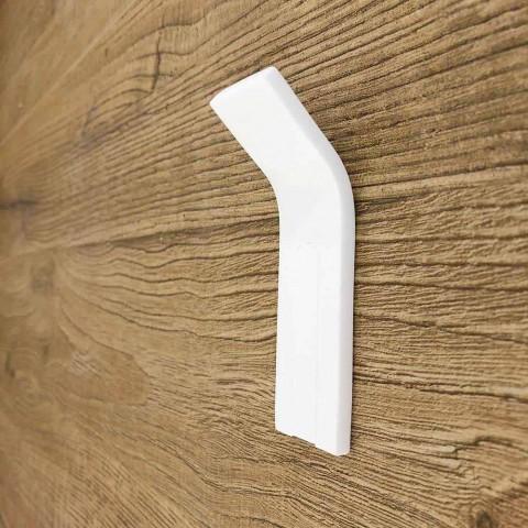 Appendiabiti da Parete in Corian con Inserto Bianco o Nero, 3 Pezzi - Appiccio