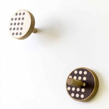 Appendiabiti da Parete in Legno di Frassino con Intarsi 2 Pezzi - Quatto