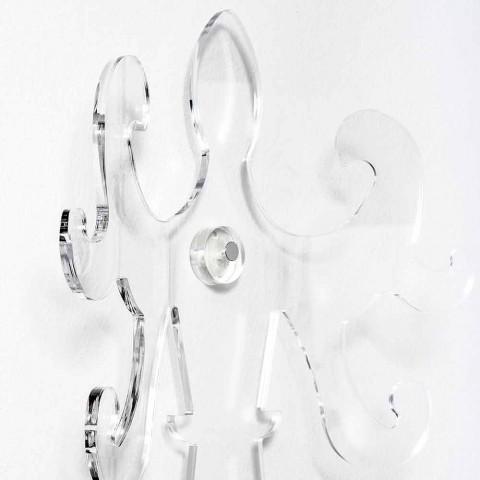 Appendiabiti da Parete in Plexiglass Trasparente o Fumè di Design - Baden