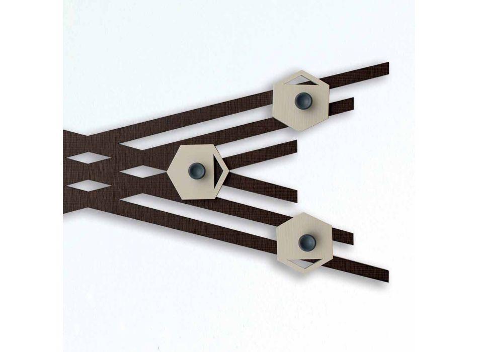 Appendiabiti da Parete Moderno di Design in Legno Laccato Colorato - Picassino