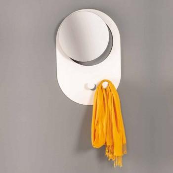 Appendiabiti da Parete Moderno in Acciaio con Specchio Made in Italy - Pilippo