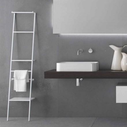Appendiabiti da Terra a Scaletta di Design Moderno Bianco o Colorato - Caloina