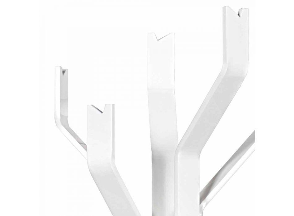 Appendiabiti da terra bianco a 5 ganci Andrea, design moderno