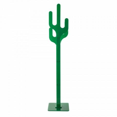 Appendiabiti da terra design moderno verde Cactus, made in Italy