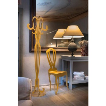 Appendiabiti da Terra di Design a Otto Ganci in Ferro Made in Italy – Giunone