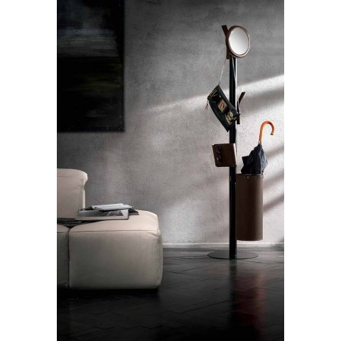 Appendiabiti da Terra di Moderno Design in Cuoio Rigenerato Made Italy – Ercole