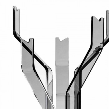 Appendiabiti da terra fumé a 5 ganci Andrea, design moderno