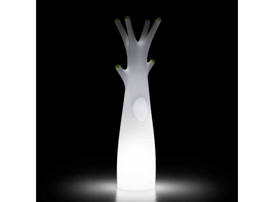 Appendiabiti da Terra Luminoso in Polietilene con Luce LED Made in Italy - Oldia