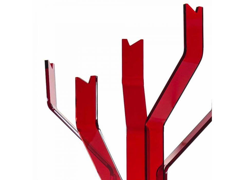 Appendiabiti da terra rosso a 5 ganci Andrea, design moderno